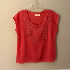 Urban Outfitters. Pins & Needles Scalloped Blouse